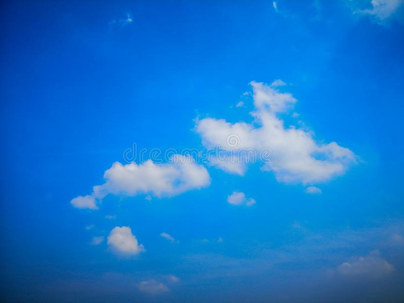 Top view blue sky white cloud beautiful day full frame background. Top view blue sky and white cloud beautiful day full frame background.Deep blue sky royalty free stock photos
