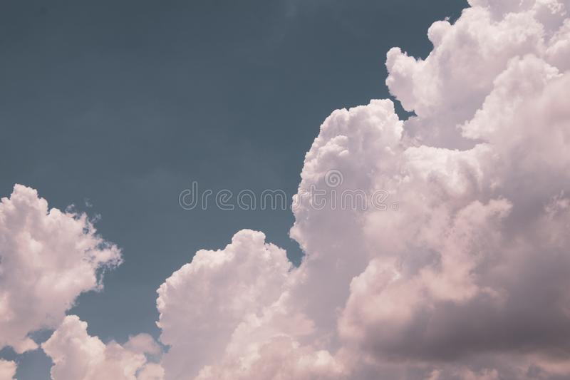 Top view blue sky white cloud beautiful day full frame background. Top view blue sky and white cloud beautiful day full frame background.Deep blue sky royalty free stock image