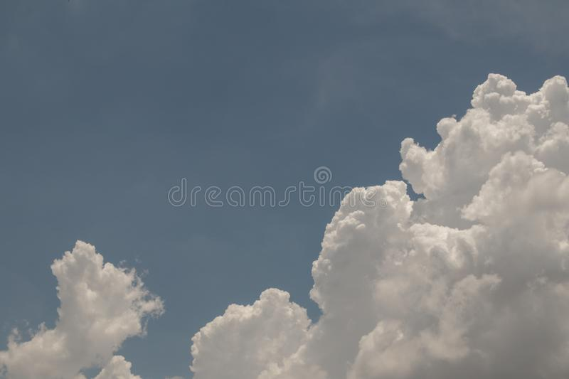 Top view blue sky white cloud beautiful day full frame background. Top view blue sky and white cloud beautiful day full frame background.Deep blue sky stock images