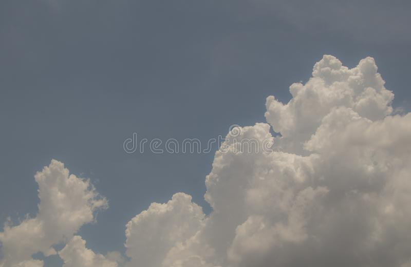 Top view blue sky white cloud beautiful day full frame background. Top view blue sky and white cloud beautiful day full frame background.Deep blue sky stock image
