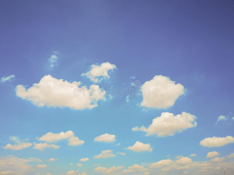 Top view blue sky white cloud beautiful day full frame background. Top view blue sky and white cloud beautiful day full frame background.Deep blue sky stock photos