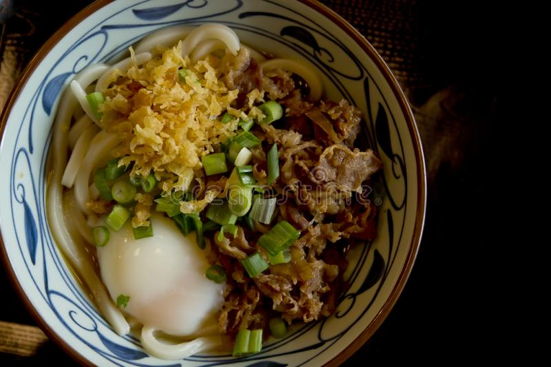 Beef Udon Bowl stock images
