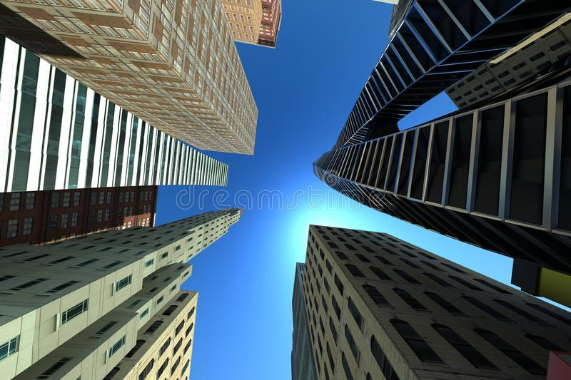 Top View Of Building Royalty Free Stock Photos