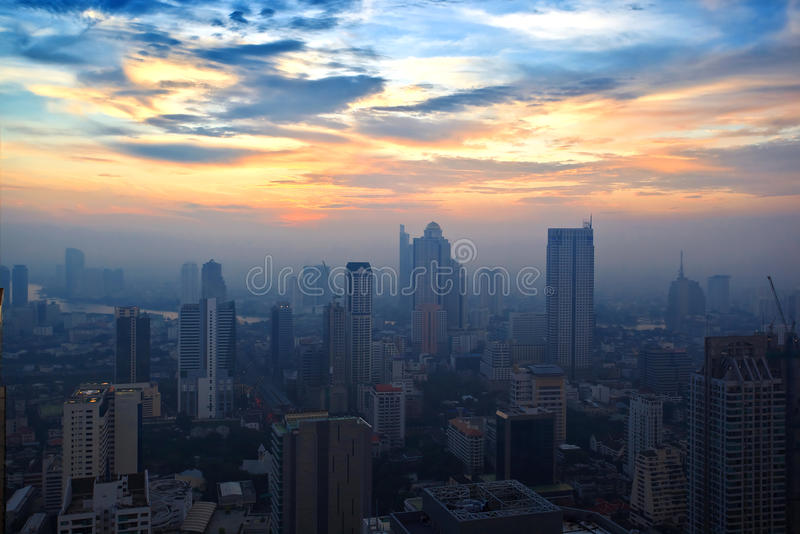 Download Top View Building Sunset Time Stock Image - Image: 26895479