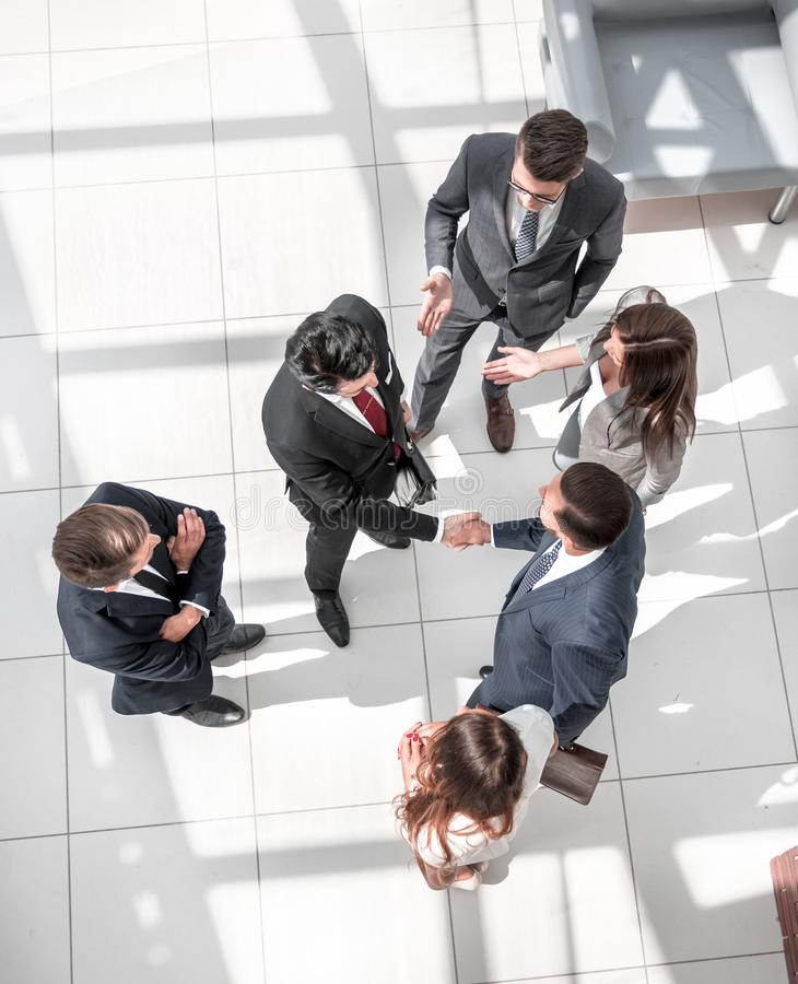 From the top view. business meeting partners royalty free stock photos