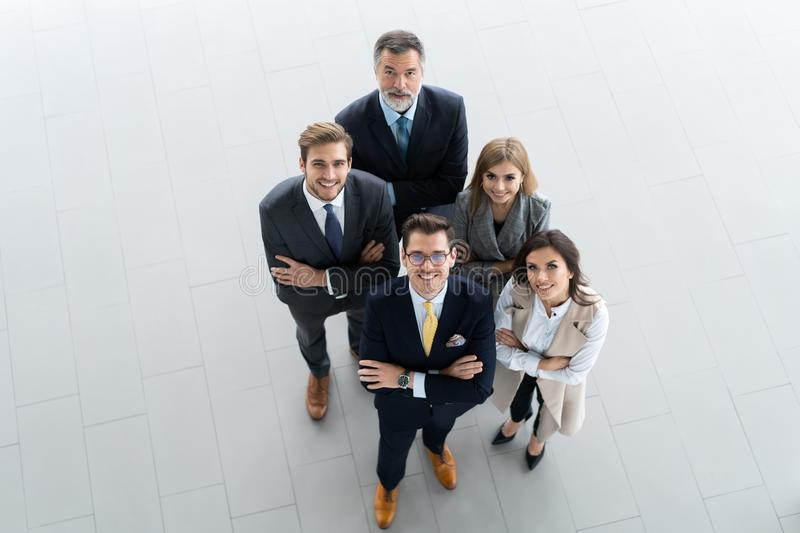 Top view of business people. Business meeting and teamwork. stock photos