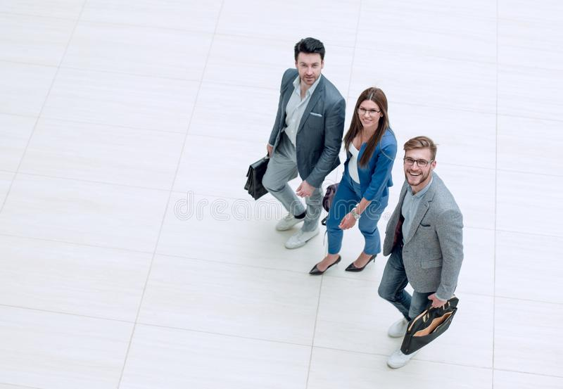 Top view.business people go together. royalty free stock images
