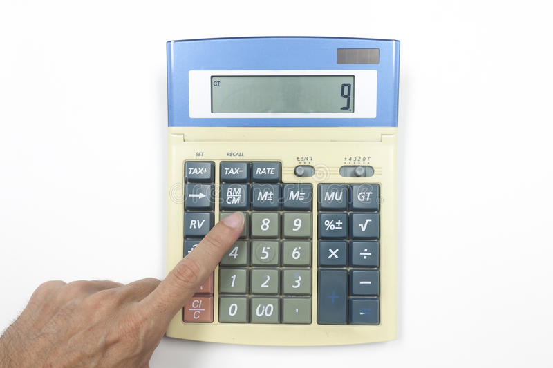 Download Top View of Calculator stock illustration. Image of icon - 83724921