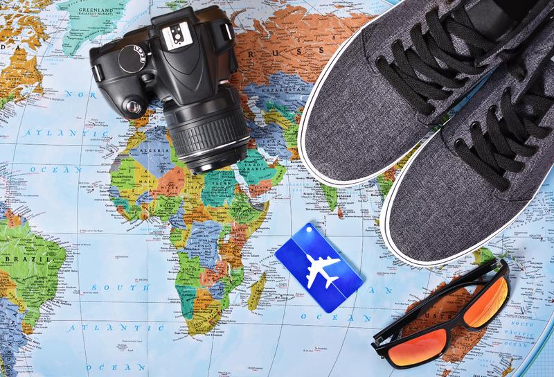 My travel essentials for a weekend getaway royalty free stock photo