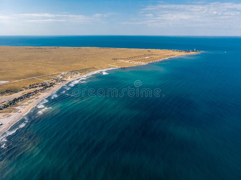 Top view of the cape and the sea in the Crimea.  royalty free stock images