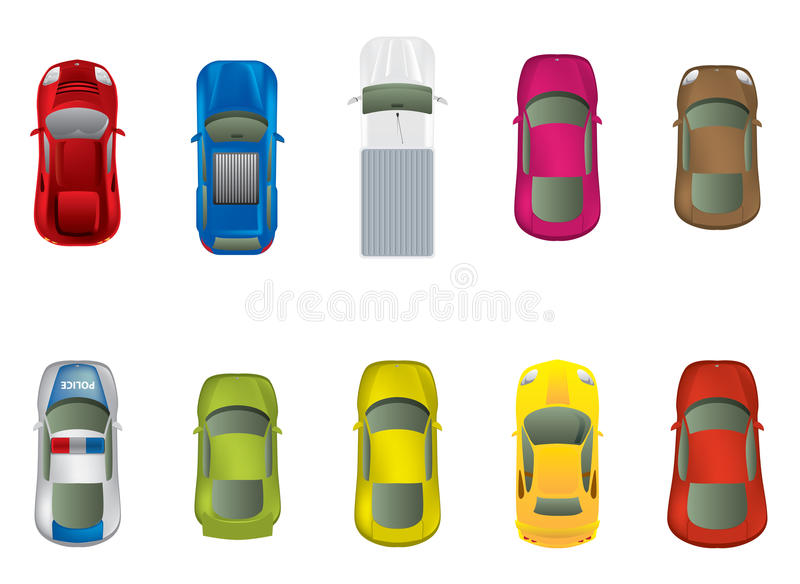 Top View Car Royalty Free Stock Photography
