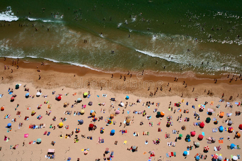 Download Top View Of Carcavelos Beach Stock Photo - Image: 25574518