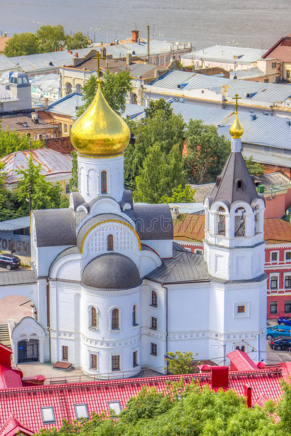 Top view center Nizhny Novgorod royalty free stock photography