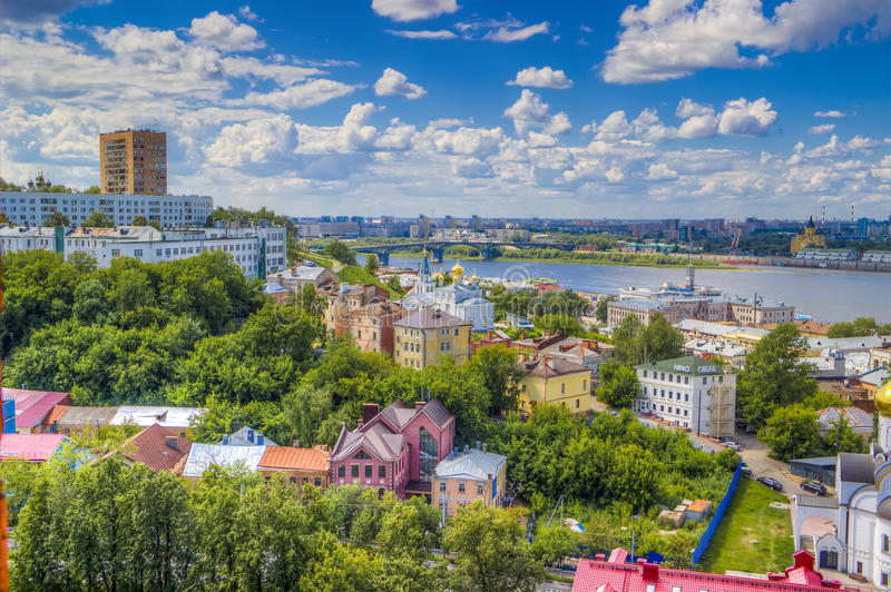 Top view center Nizhny Novgorod royalty free stock image