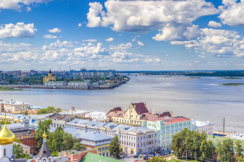 Top view center Nizhny Novgorod royalty free stock photos
