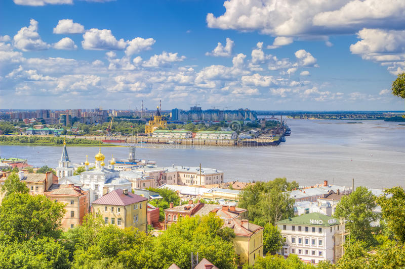 Top view center Nizhny Novgorod royalty free stock images