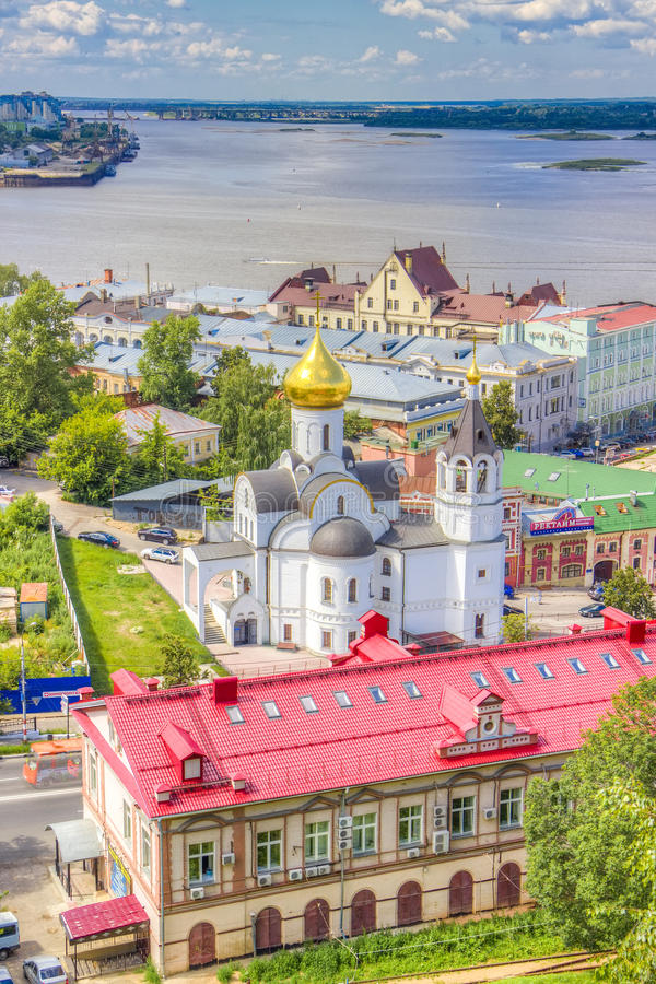 Top view center Nizhny Novgorod stock photo