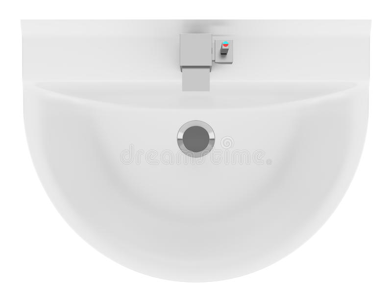 Top view of ceramic bathroom sink isolated on white stock - Wall whale xl 20 swimming pool wall brush ...