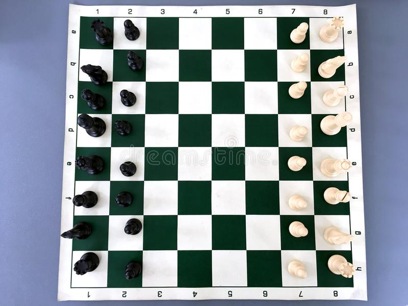Top view of chessboard royalty free stock photos