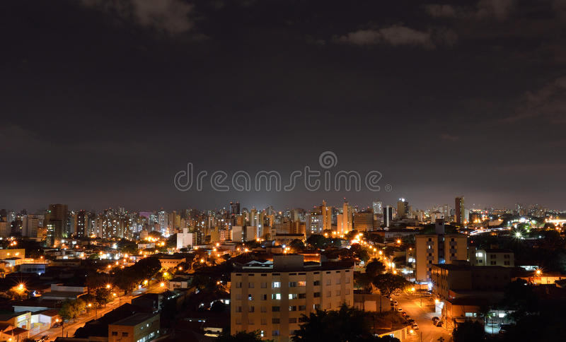 Top view of the city of Campinas, in Brazil. Top view of the city of Campinas in Brazil - colors stock image