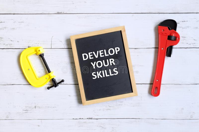 Develop your skills royalty free stock photos