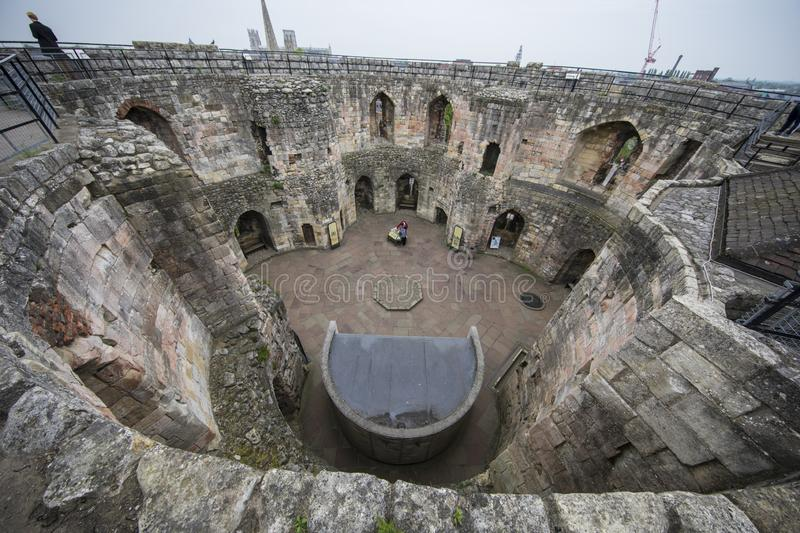 Top View Cliffords Tower stock photos