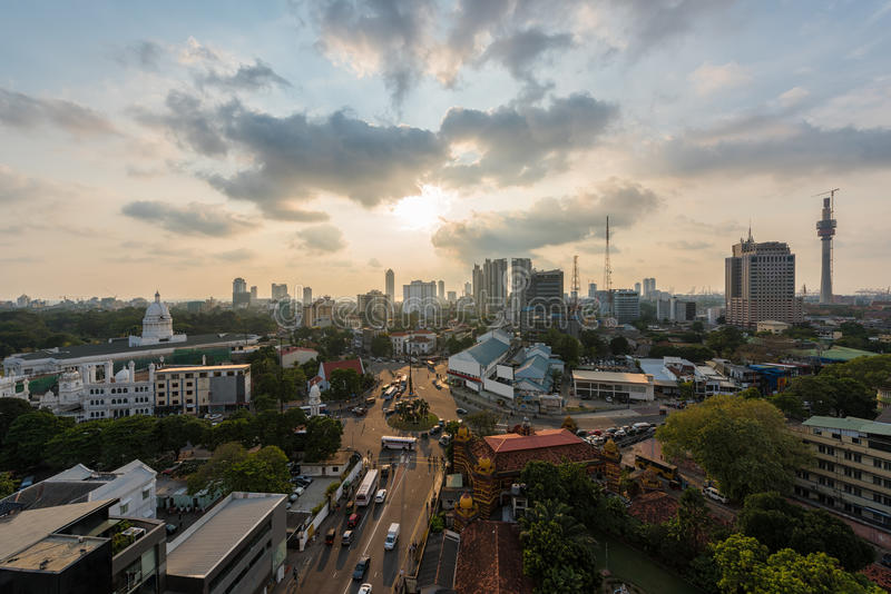 Top view of Colombo city stock photos