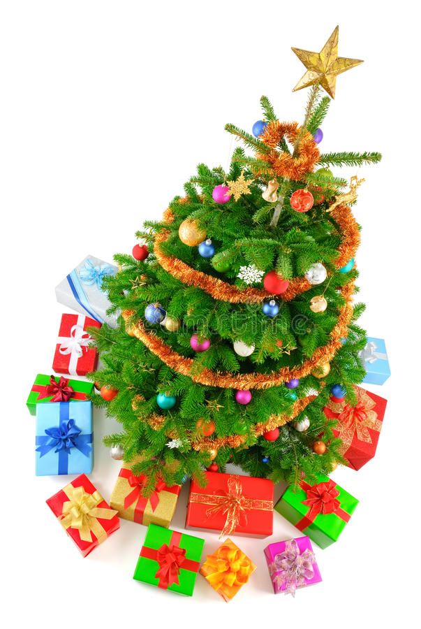 Top View Of Colorful Christmas Tree Stock Images - Image: 22275124