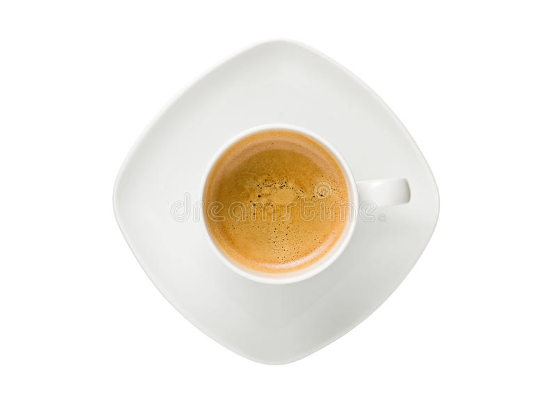 White Cup of Espresso Coffee royalty free stock photography