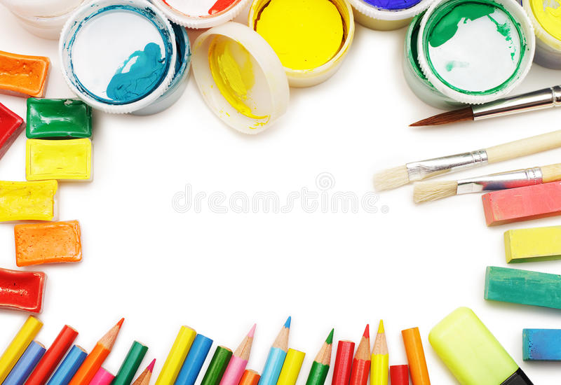 Top view of different colores royalty free stock photos