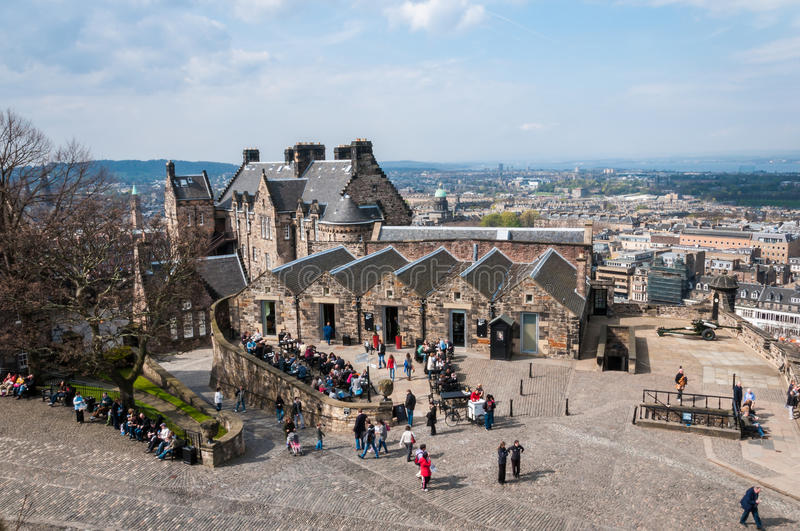 Top view from edinburgh castle stock photography