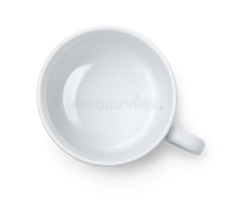 Empty Cup Top : Top view of empty coffee cup stock photo image circle