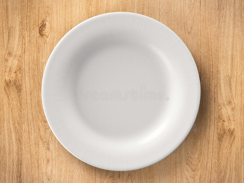 Top view empty dish royalty free stock photo