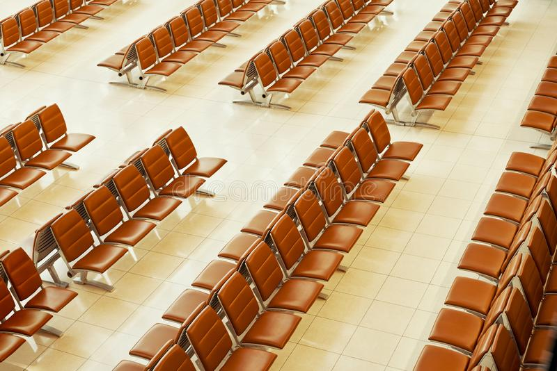 Top view of empty seats stock photography