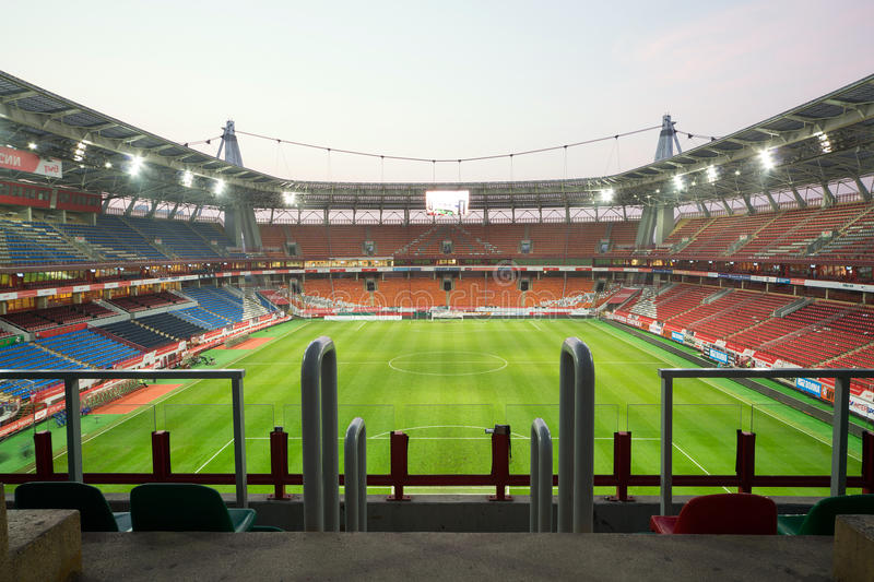 Top view on empty stadium royalty free stock photos