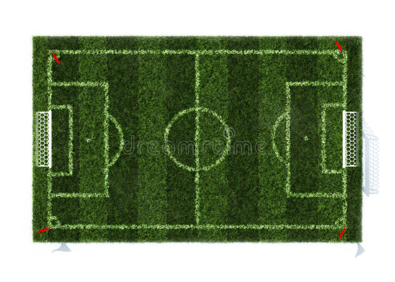 Download Top View Of The Football Field Stock Illustration - Image: 16095396