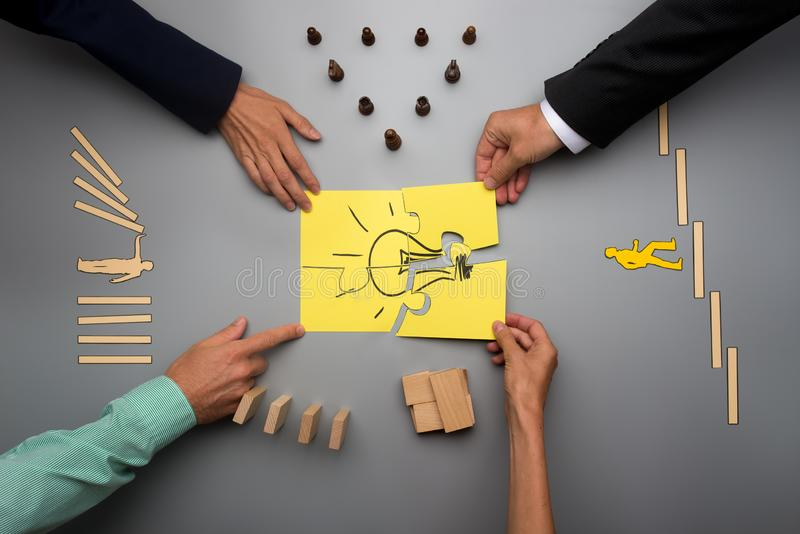 Business vision and start up concept royalty free stock image