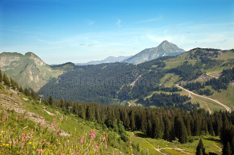 Top view of French Alps royalty free stock image