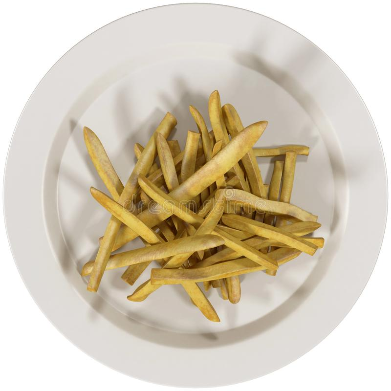 Top view of french fries vector illustration