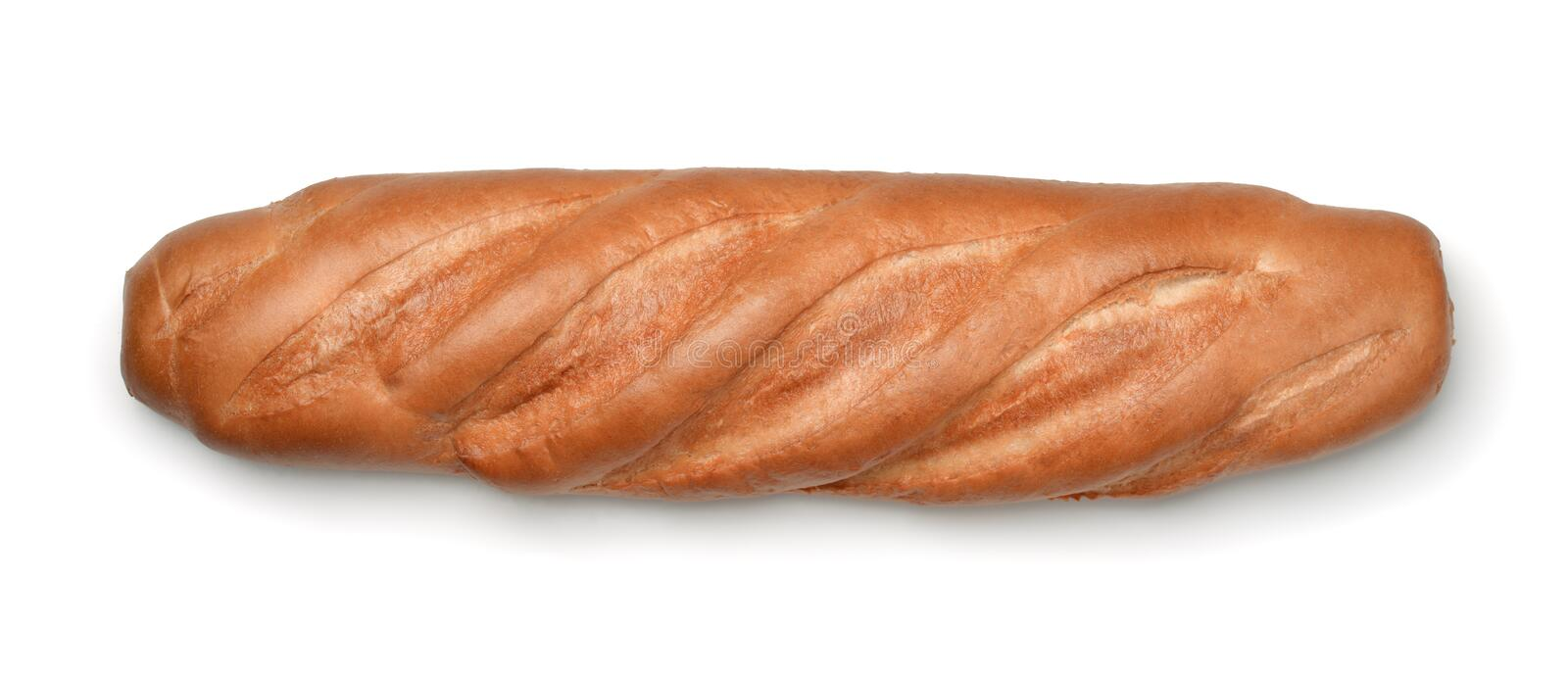Top view of fresh bread loaf royalty free stock photography