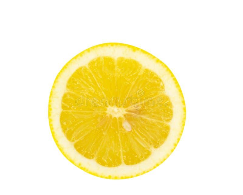 Top view fresh lemon fruit isolated on white background stock images