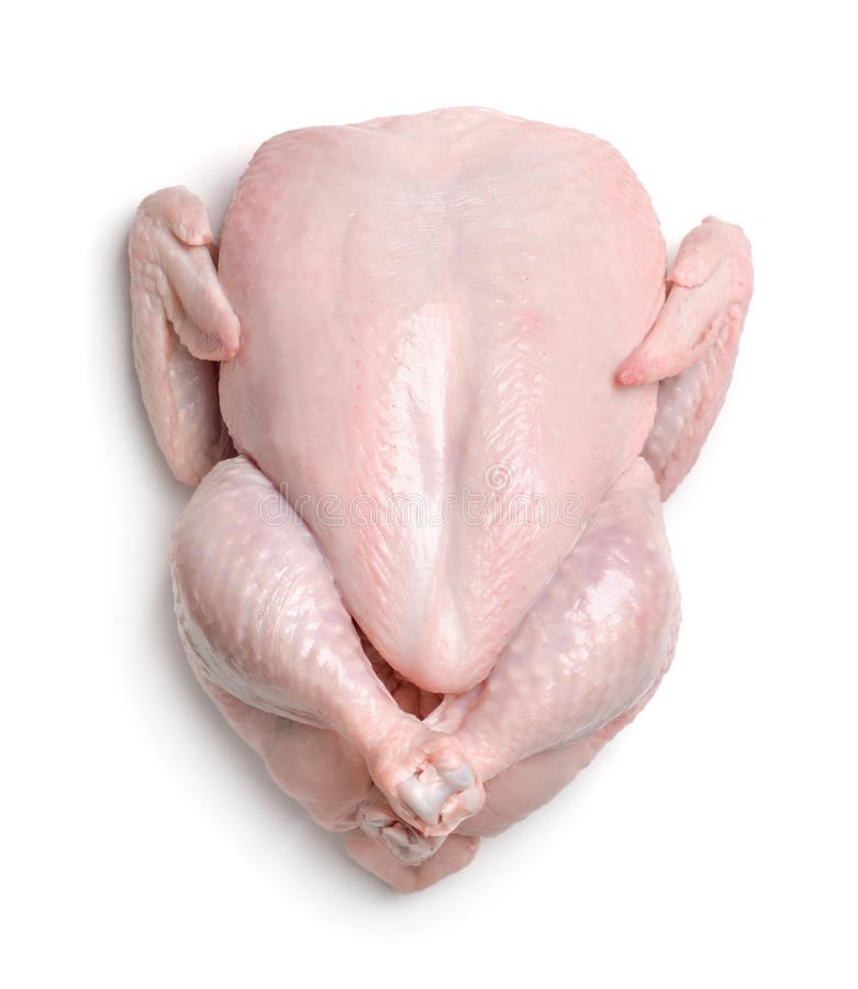 Top view of fresh raw chicken royalty free stock photos