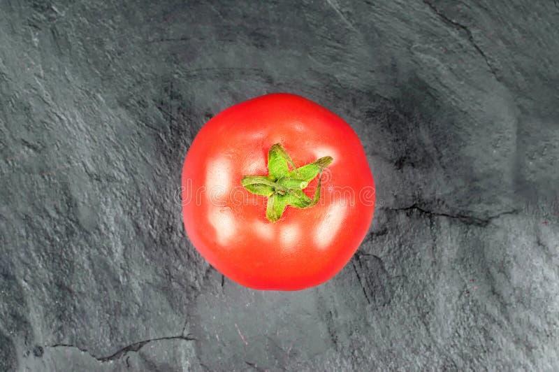Top view of fresh tomato stock image