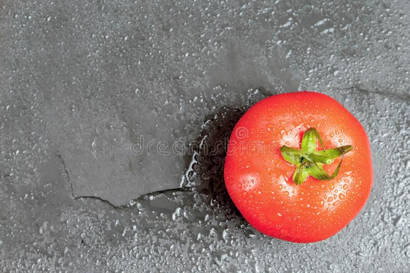 Top view of fresh tomato royalty free stock photo