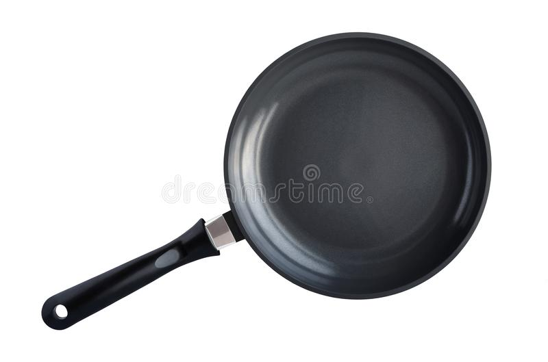 Top view of frying pan stock images