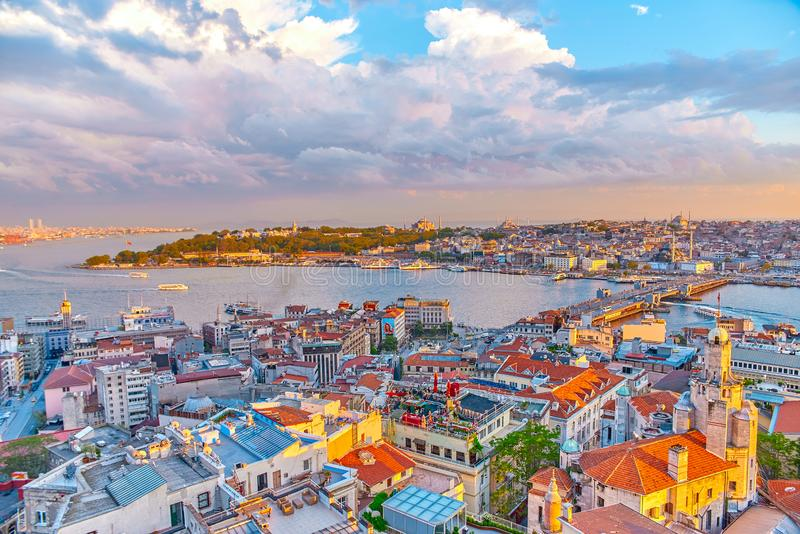 Istanbul view from aboven stock images
