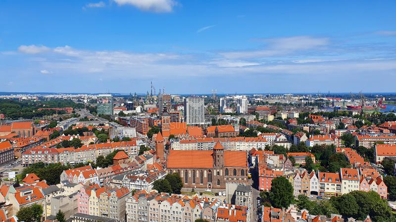 Top view on Gdansk, Poland royalty free stock images