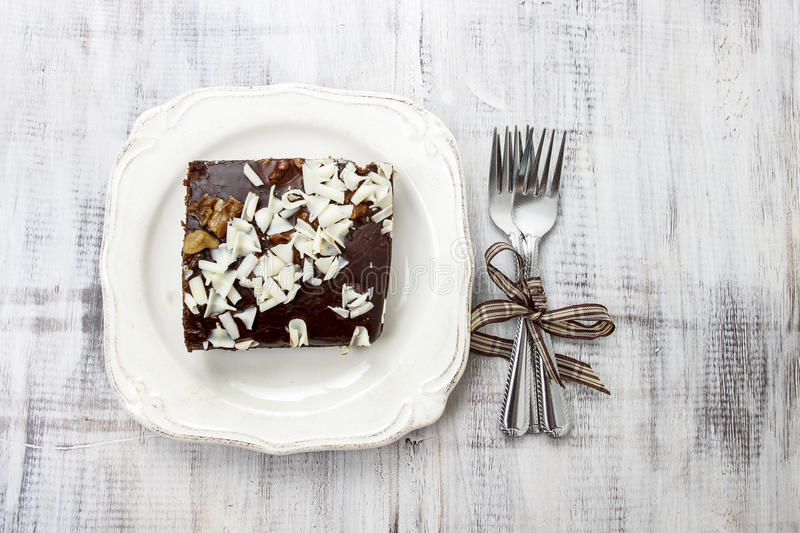 Top view of gingerbread cake royalty free stock image