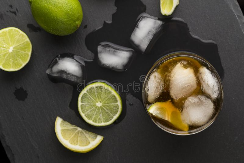 Cuba libre cocktail royalty free stock photography