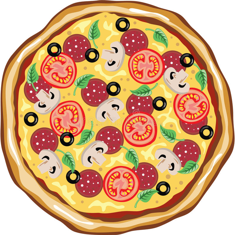top view great pizza stock vector illustration of crust 67347650 rh dreamstime com pizza man clipart images pizza clipart pictures